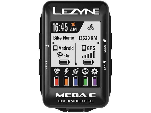 Lezyne Mega Colour GPS Navigationsudstyr, black